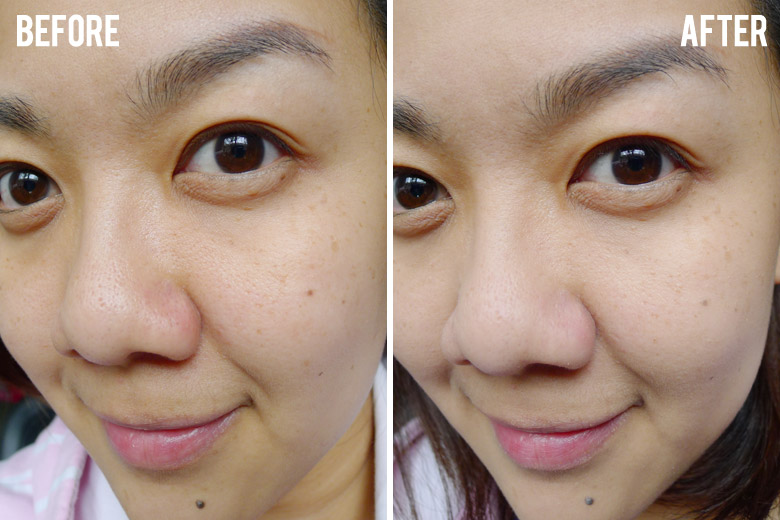 Bourjois Nude Sensation Blur Effect Before and After