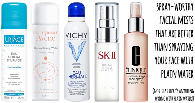 Uriage, Avene, Vichy, SKII, Clinique Facial Sprays