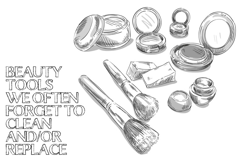 Beauty Tools We Often Forget To Clean/Replace
