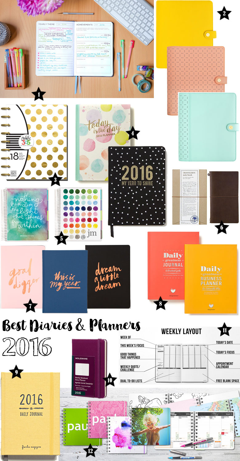 Best diaries and planners for 2016 beautyholics anonymous for Planners anonymous