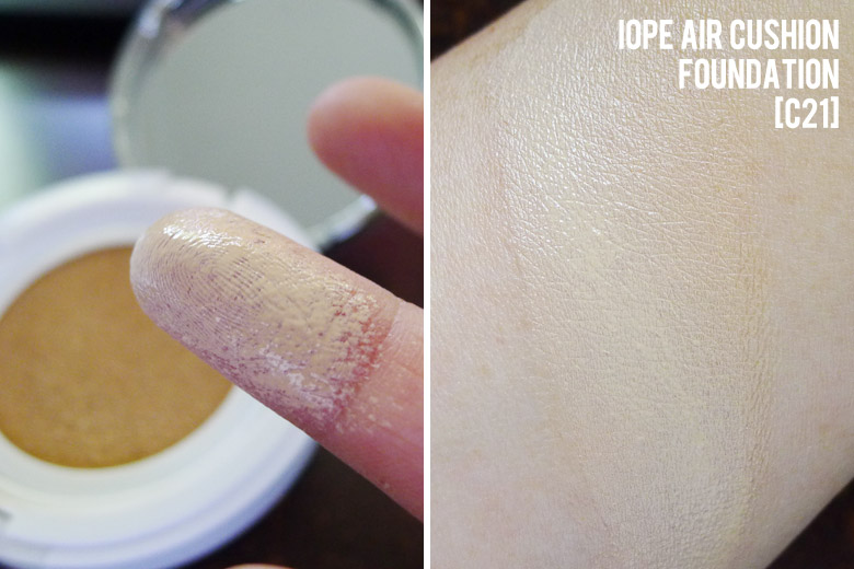 IOPE Air Cushion Foundation Swatch