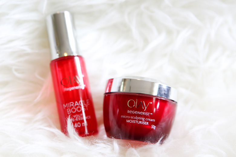 Olay Regenerist Micro Sculpting Cream Moisturiser and Miracle Boost Youth Pre-Essence