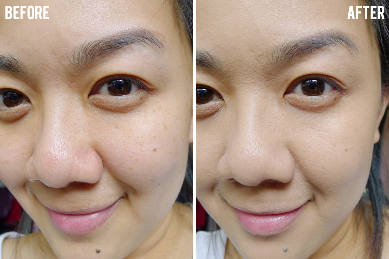 L'Oreal True Match Foundation Before and After
