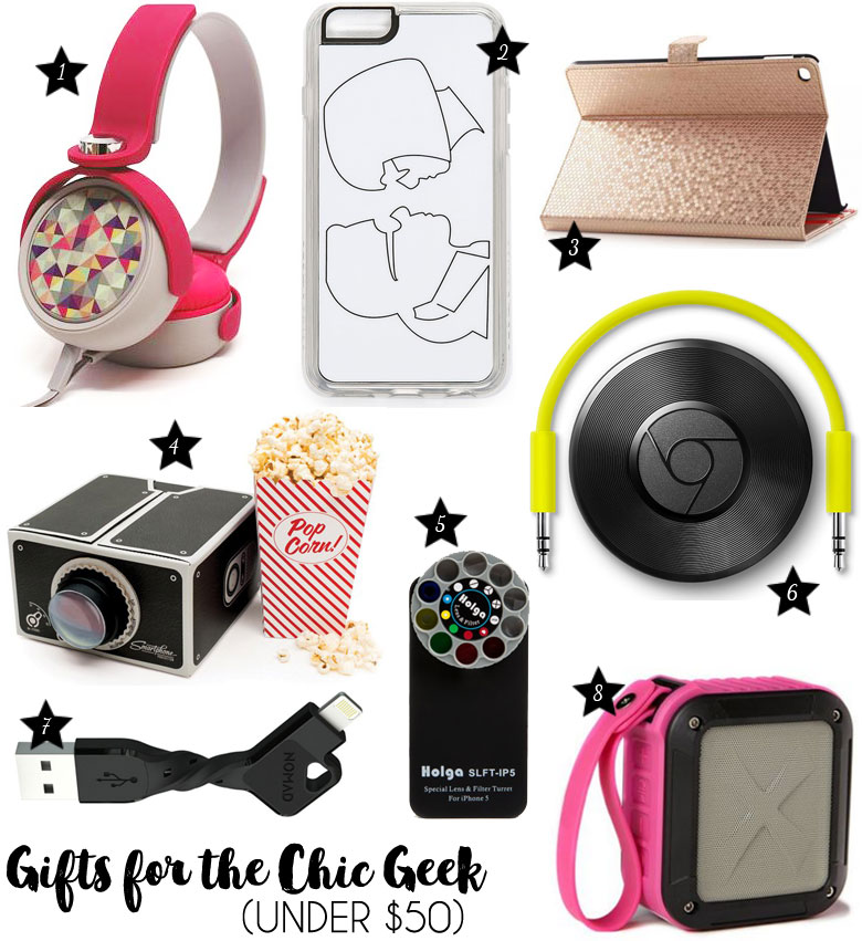 Christmas Gift Guide 2015 For The Chic Geek Under $50