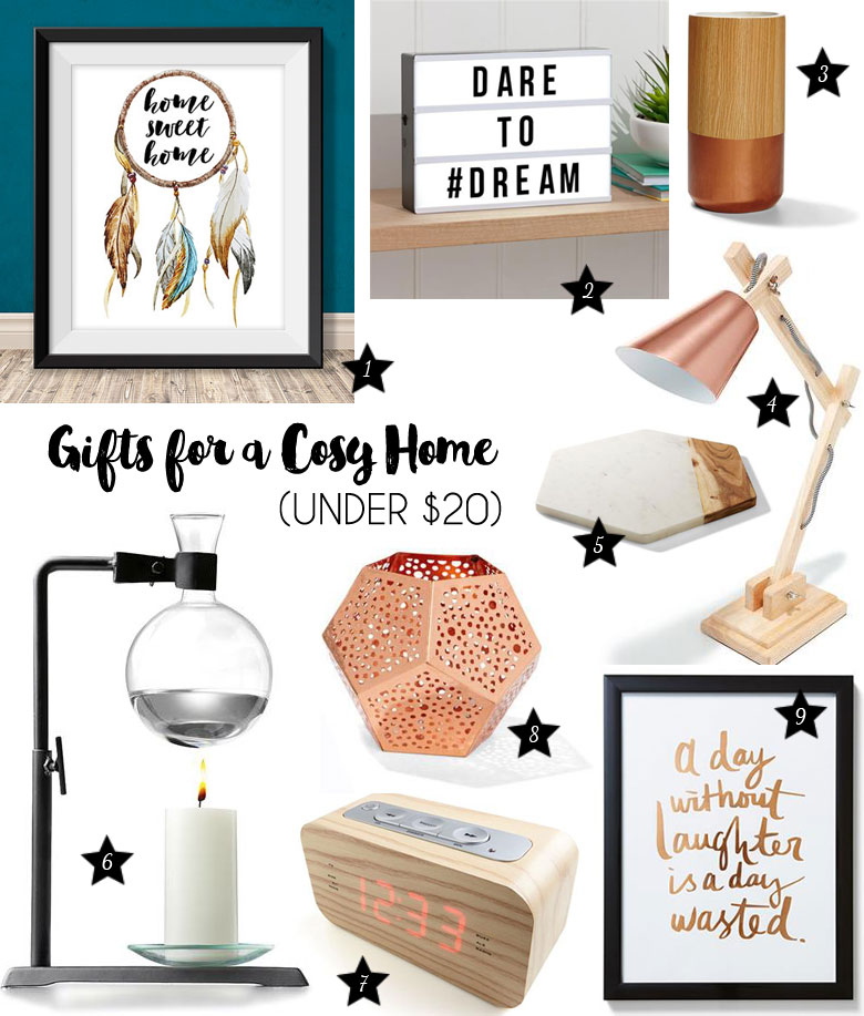 Christmas Gift Guide 2015 For A Cosy Home Under $20
