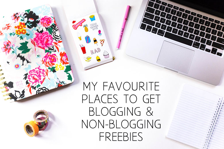 Bloggie Wednesday: My Two Favourite Places To Get Blogging (And Non-Blogging) Freebies