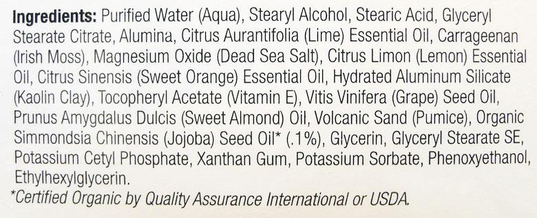 Derma E Microdermabrasion Scrub Ingredients