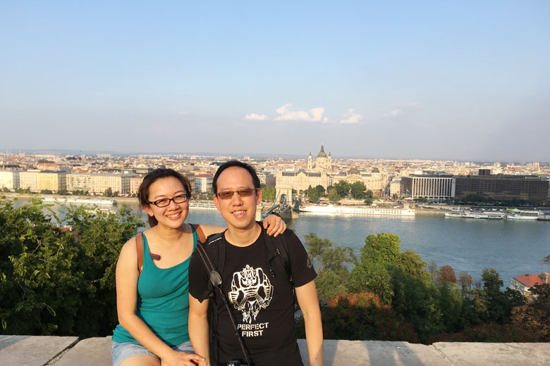 Tim and I At Budapest