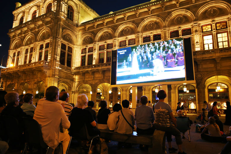 Outside the Vienna State Opera